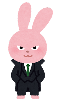 悪そうな動物のキャラクター(うさぎ)