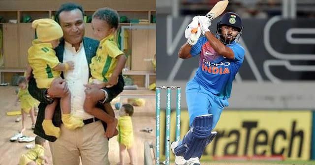 "Rishabh Pant called Virender Sehwag ""inspiring cricket and Babysitting"""