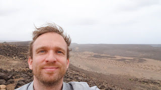 Me with Djibouti mountains in background
