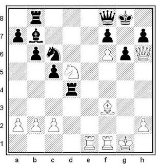 Posición de la partida de ajedrez Jacek B. Bednarski - Tamaz Georgadze (Memorial Goglidze, Tbilisi, 1971)