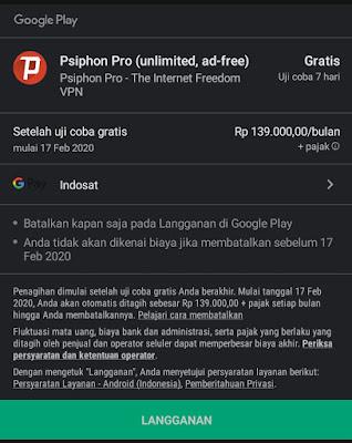 Cara Trial Psiphon Pro Unlimited Terbaru
