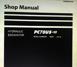 Komatsu pc78us-10 Hydraulic excavator shop manual