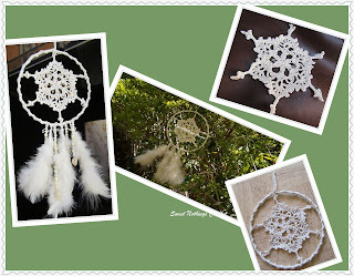 free crochet dream catcher pattern, free crochet table coaster