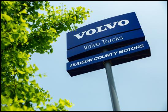 Hudson County Motors Volvo Trucks sign