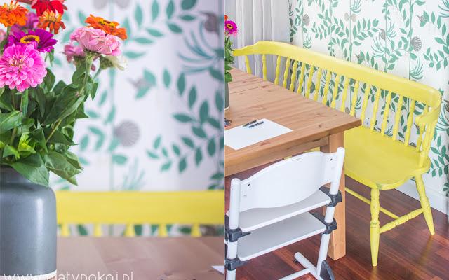 Żółta ławka w jadalni - CZYTAJ DALEJ
