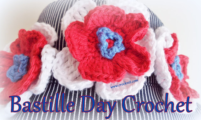 how to crochet, free crochet patterns, flowers, neck scarf, headband, hatband,