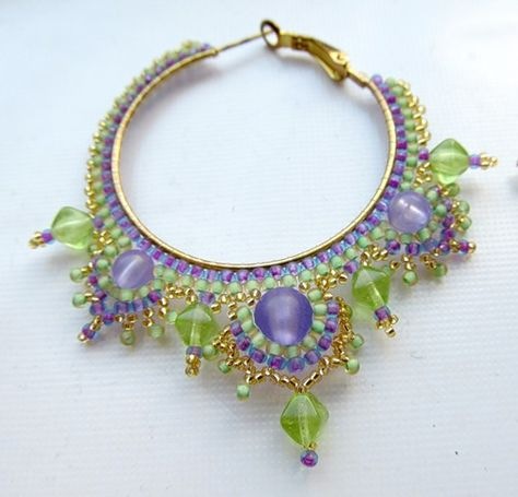How to Dress Up Wire Hoop Earrings Tutorials The Beading Gem s