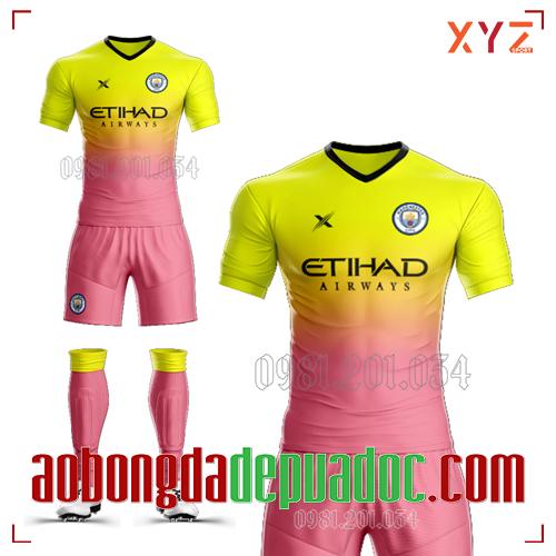 Áo Man City 2020 Training 3 Màu Vàng Hồng Đẹp Và Độc