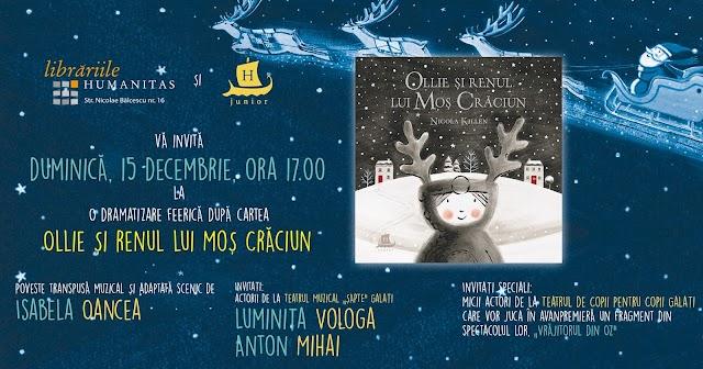Ollie și renul lui Moș Crăciun - teatru pentru copii