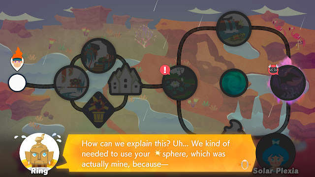 Ring Fit Adventure World 31 Solar Plexia sphere taken