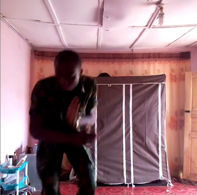 """""""I Can't Wait, Am Going Home To See My Mama"""" - Nigerian Soldier Dances Zanku And Gbe Body"""
