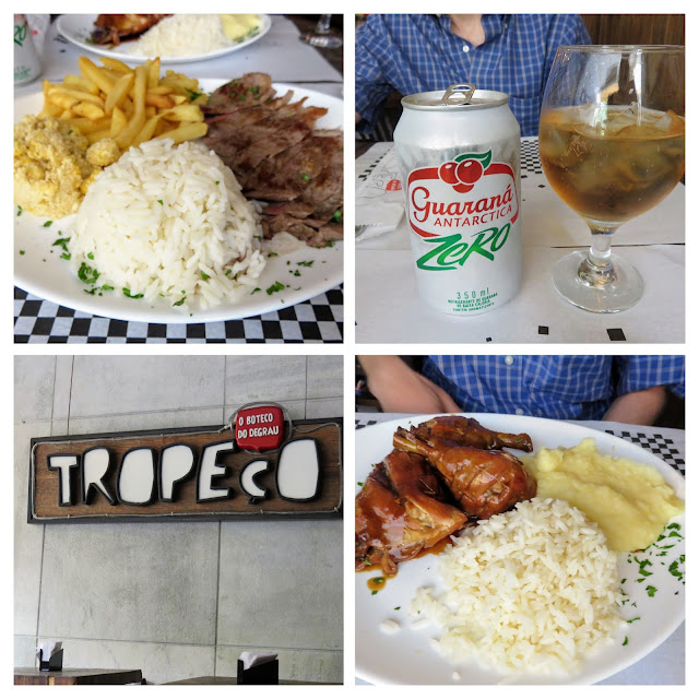 Where to eat in Rio: collage of lunch at Tropeco in Leblon
