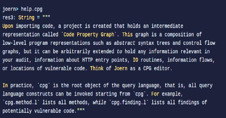Joern : Open-source Code Analysis Platform For C/C++/Java Based On Code Property Graphs
