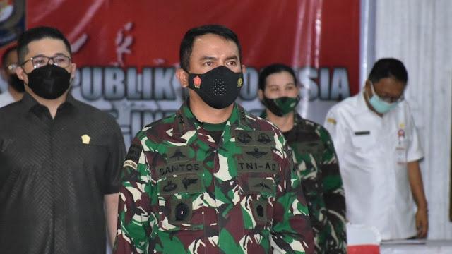 Bersama Seluruh Kepala Daerah, Pangdam XIII/ Merdeka Ikuti Arahan Presiden via Daring