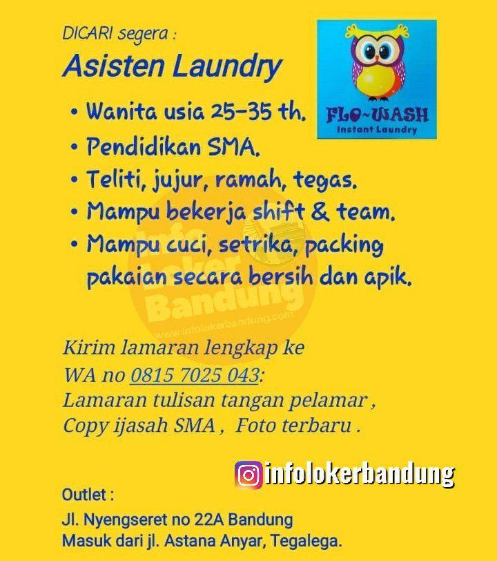 Lowongan Asisten Laundry Flo-Wash Instant Laundry Bandung November 2019