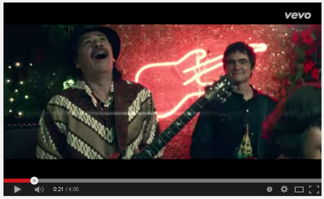 Carlos Santana Wear Indonesian Batik In The Video Clip