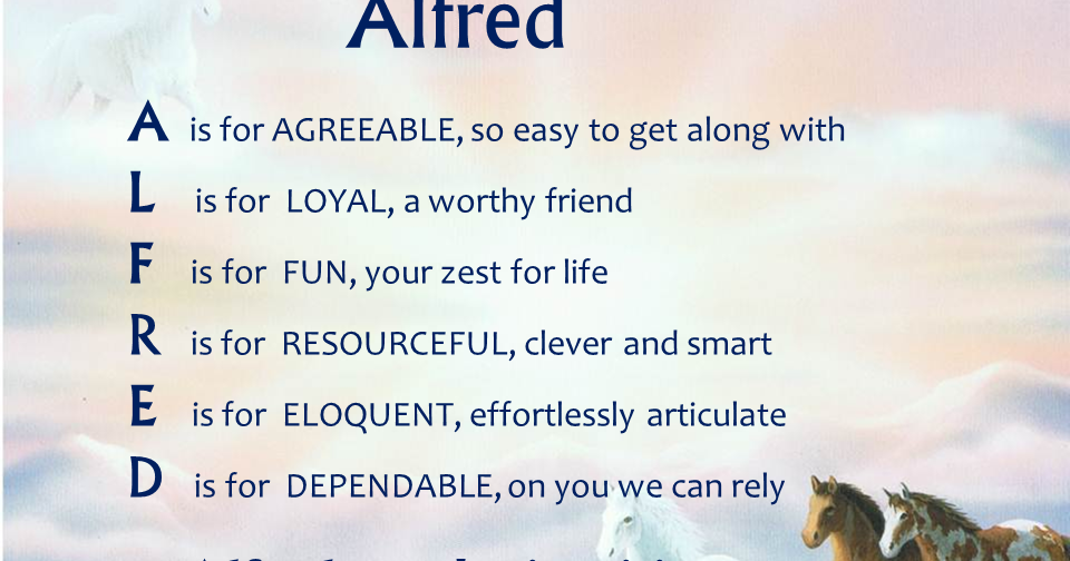 Acrostic name poems for boys alfred