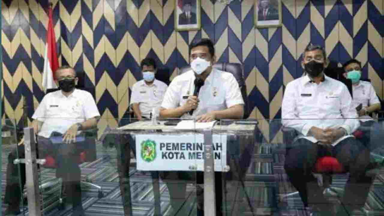 Bobby Nasution Sampaikan Perkembangan Kasus Covid-19 di Medan Pada Rapat Evaluasi PPKM