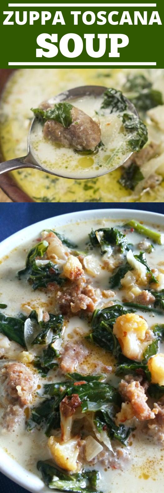 Keto Zuppa Toscana Soup #healthy #soup #keto #diet #dinner