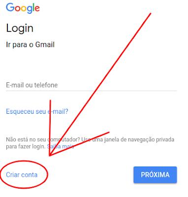 Como fazer uma conta de email pelo notebook