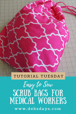 Easy Fabric Homemade Drawstring Laundry Bags Sewing Project