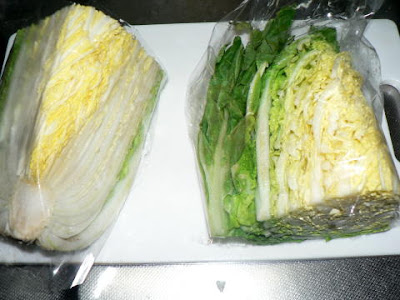 白菜半切り