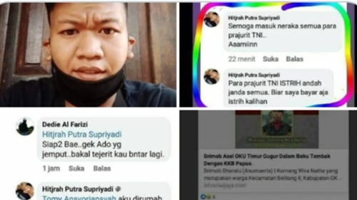 Doakan Jelek Prajurit TNI, Netizen: Semoga Istri Kalian Janda Semua