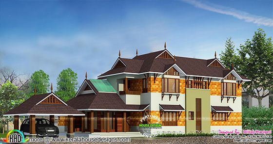 2808 sq-ft 4 bedroom house architecture