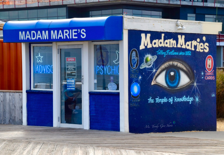 Madam Maries on the boardwalk in Asbury Park was made famous by Bruce Springsteen'| Ms. Toody Goo Shoes