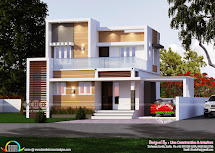1265 Square Feet Modern Box Type 4 Bhk House - Kerala Home