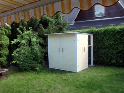 Der Garten[Q]BIKE Ist über Drei Seiten Zu öffnen. Auf Der Linken Seite  Befinden Sich Tiefe Fächer Zur Aufbewahrung Großer, Sperriger Gegenstände  Wie ...