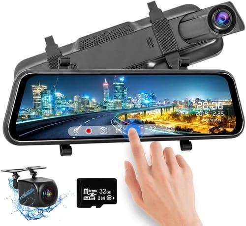 Sanlinkee Full HD Touch Screen Car Mirror Dash Cam