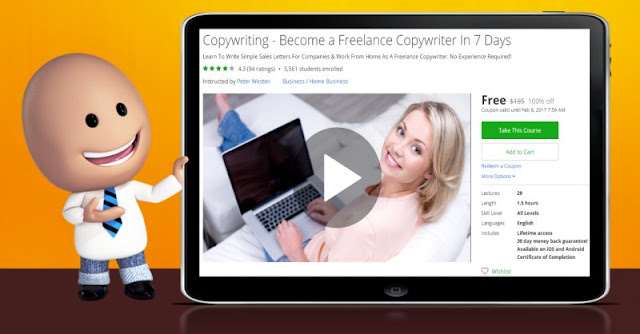 [100% Off] Copywriting - Become a Freelance Copywriter In 7 Days|Worth 185$