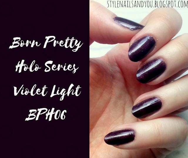 Born Pretty Holo Series Violet Light BPH06   Born Pretty Store Review