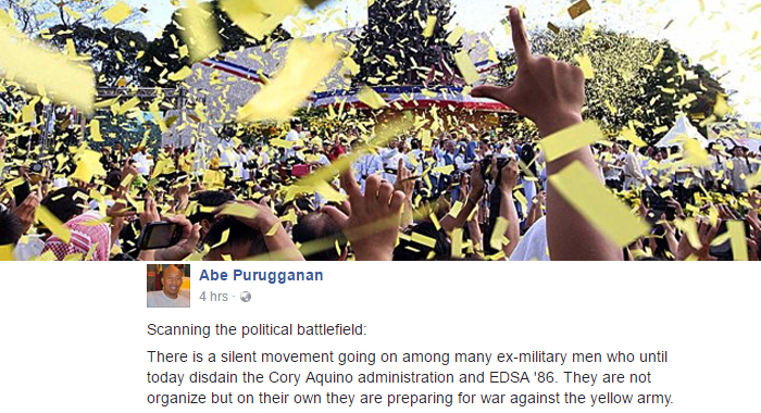 Ex-military men prepare for war against the yellow army if they do something stupid on EDSA anniv, PMA Alumnus says