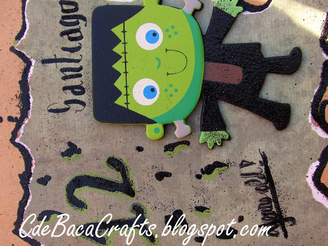 Handmade Goosebumps Birthday Card for kids by CdeBaca Crafts.