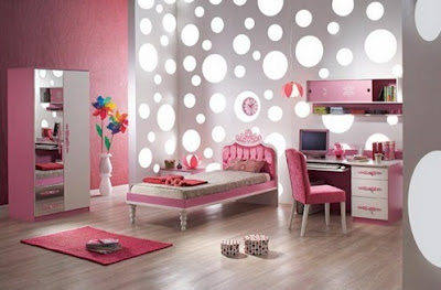 Contoh kamar tidur dengan warna pink
