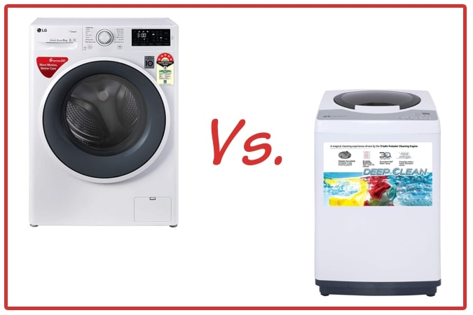 LG FHT1006ZNW (left) and IFB REW (right) Washing Machine Comparison.