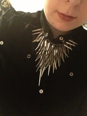 Silver Multi Spike Necklace