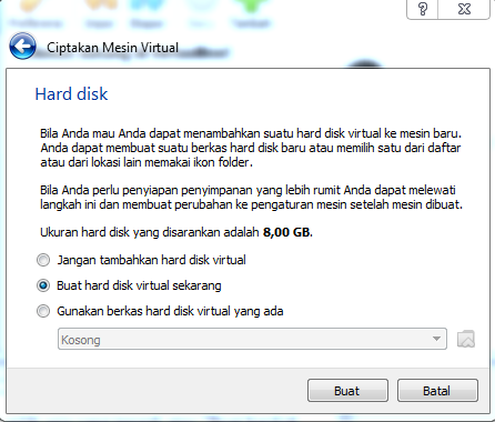 membuat mesin virtual