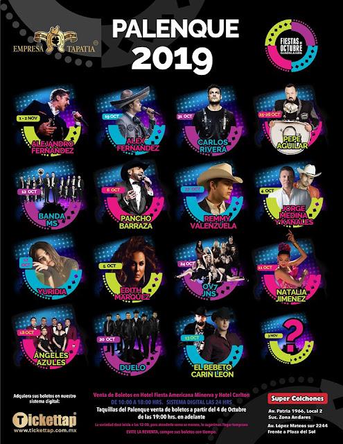palenque fiestas de octubre guadalajara 2019