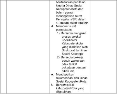 lowongan pendamping pkh 2017