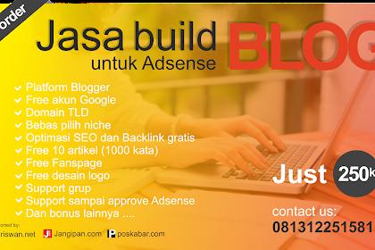 Jasa Build Blog untuk Daftar Adsense