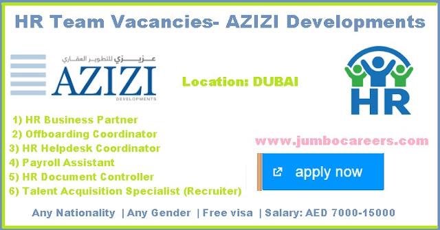 Azizi Developments job  salary