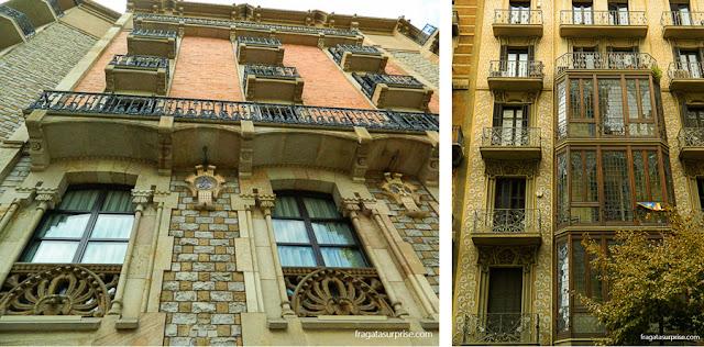 Casas modernistas no Eixample, Barcelona