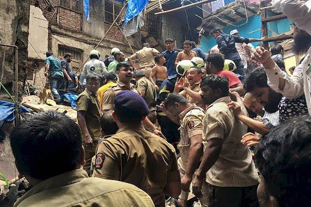 12 dead, more than 40  trapped  as Mumbai building breakdown