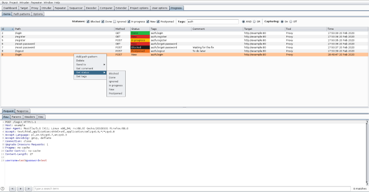 Progress Burp : Burp Suite Extension To Track Vulnerability Assessment Progress