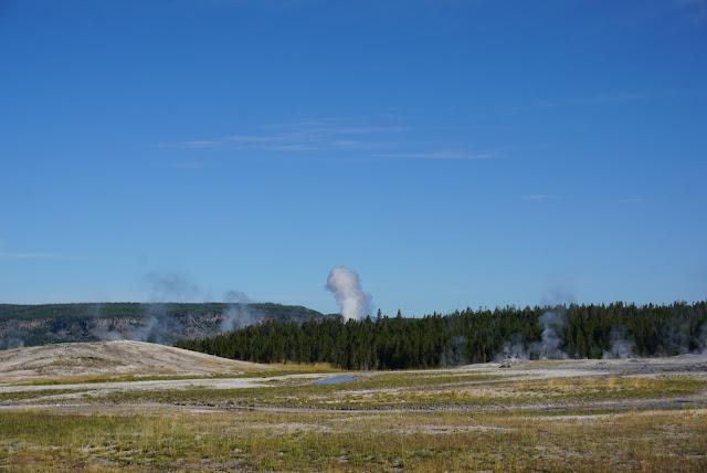 panorama upper geyser basin yellowstone