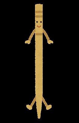 爪楊枝のキャラクター