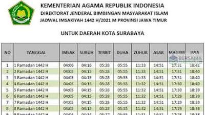 Jadwal Imsakiyah Selama Ramadhan 1442 H, Selamat Beribadah Puasa!